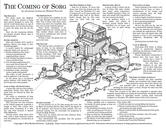 The Coming of Sorg