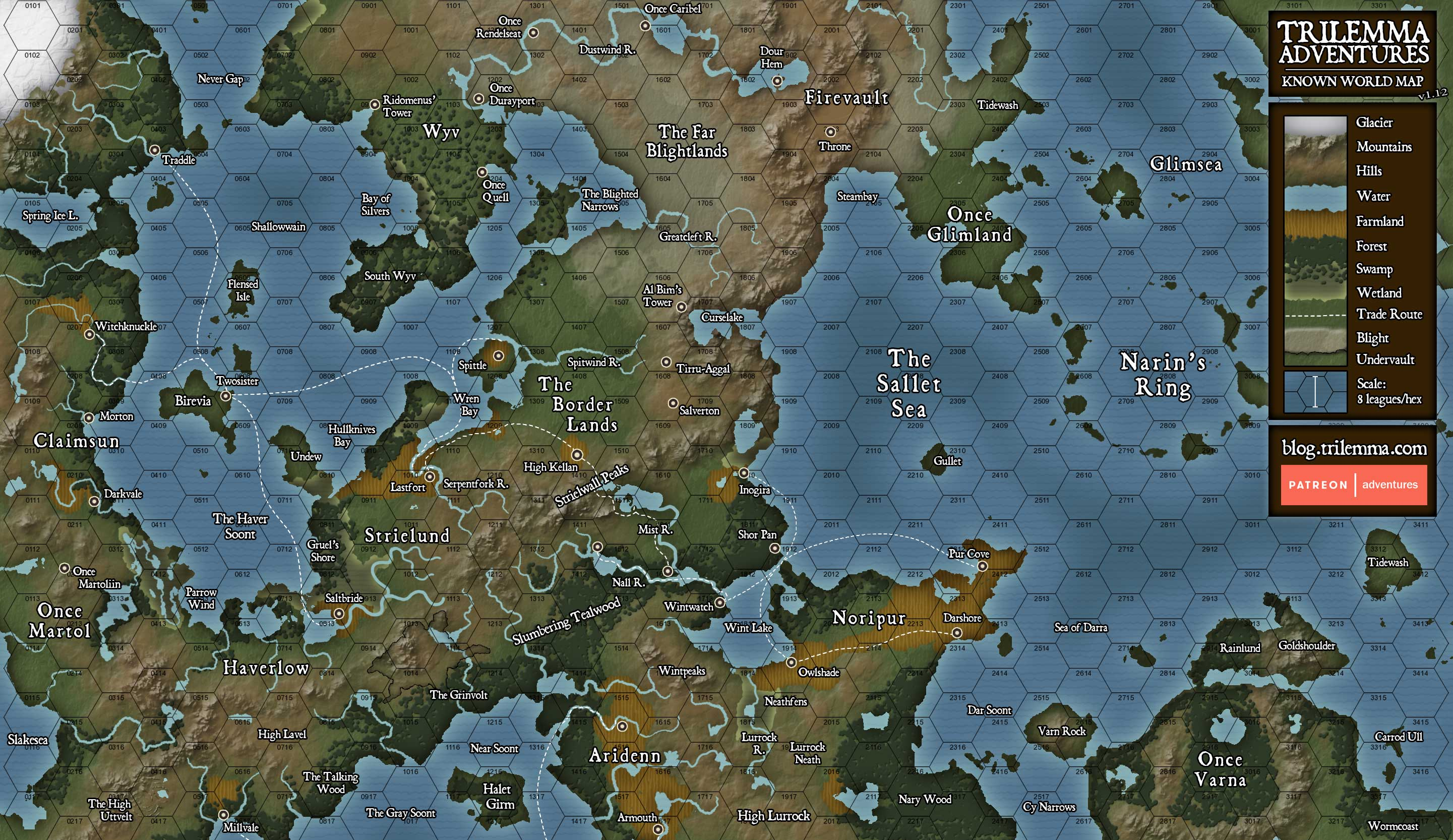 Ill See It When I Believe It Map Update - Map of the whole world with names