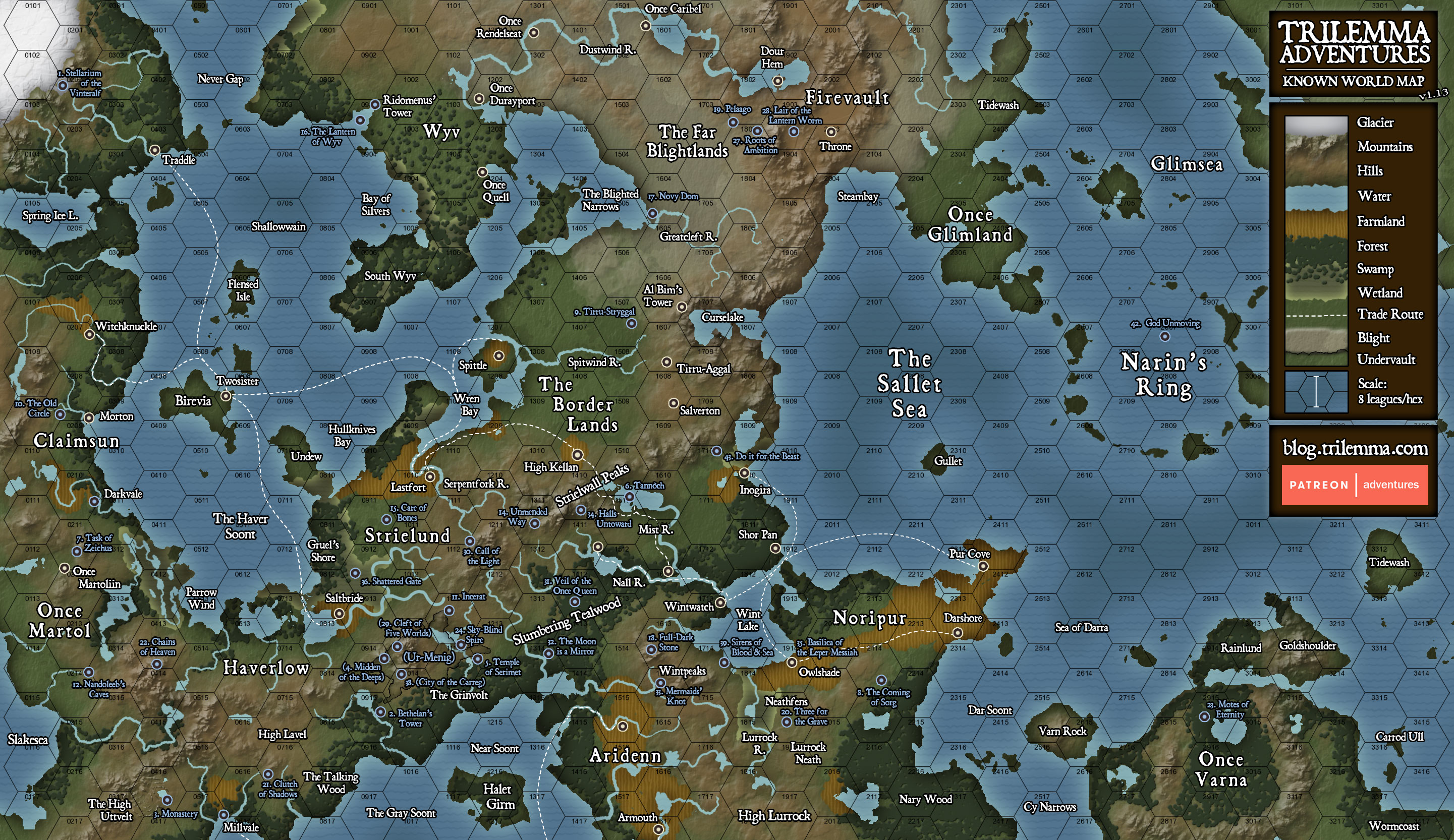Trilemma adventures trilemma adventures known world map i will eventually detail the cultures and history of the place although even once ive done that i expect that most people will take the adventures and gumiabroncs Image collections