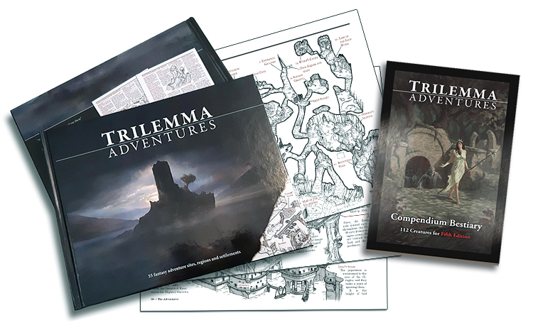 Trilemma Adventures and the 5e Bestiary
